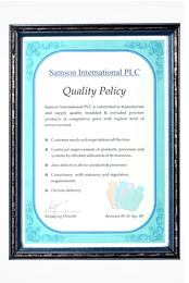 Samson International PLC Quality Policy