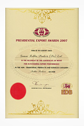 Presidential Export Awards - 2007
